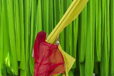 Sari Factory, Rajasthan, India