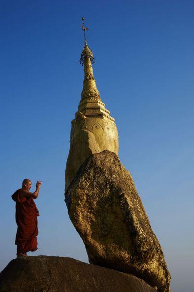 Moine bouddhiste, Etat de Môn, Myanmar