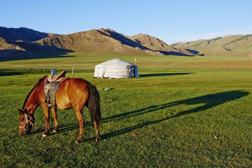 Nomadic camp, Zavkhan province, Mongolia