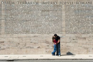 Young couple, Rome, Lazio, Italy
