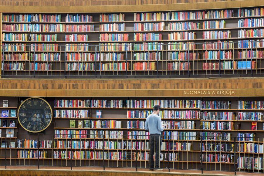 Bibliothèque publique, Stockholm, Suède