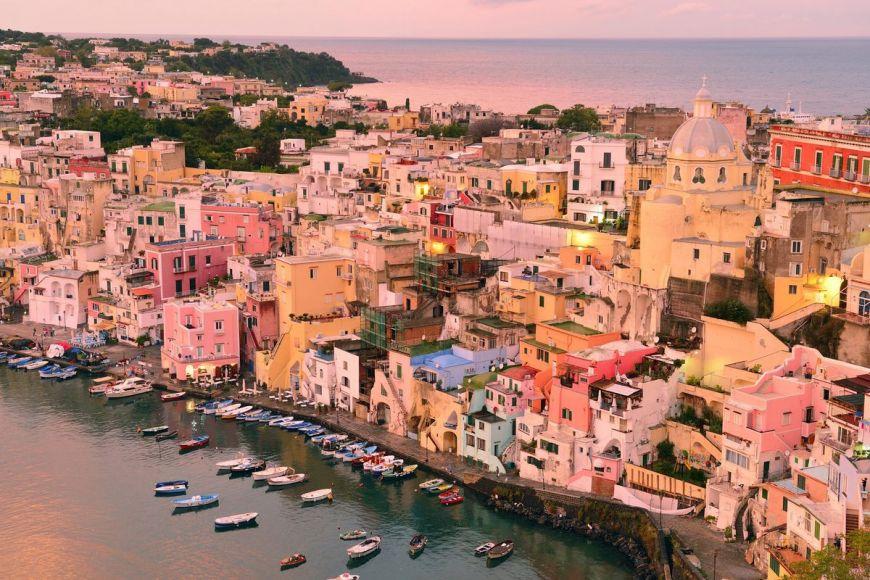 Port de pêche de Corricella, Italie