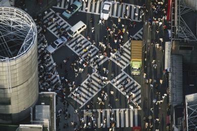 Japan, Pedestrians on the streets of Tokyo