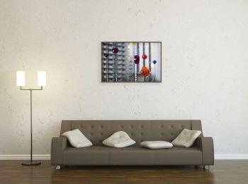 Lampes du Bassin de l'artiste Takis sur l'Esplanade de la Défense