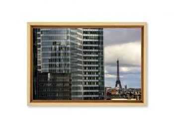 Eiffel tower seen from the La Defense district