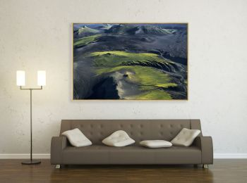 Mountains, Myrdalsjokull Region, Iceland