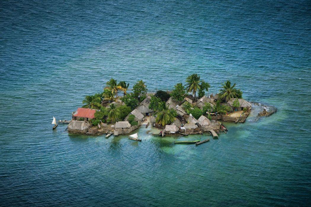 Habitations des Indiens Kuna, Panama