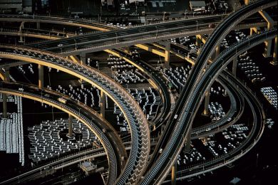 Motorway interchange, Japan