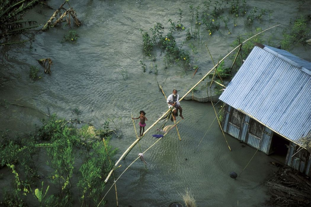 Flooded house, Bangladesh