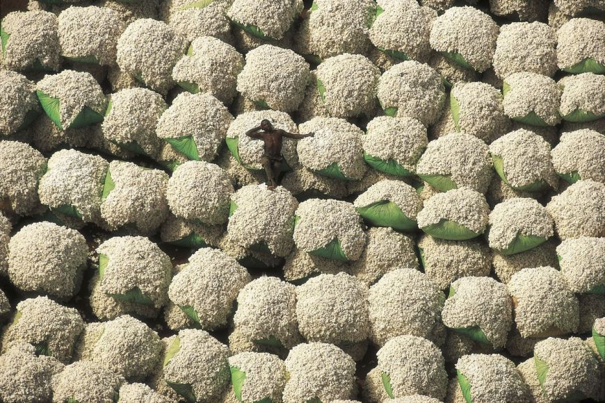 Cotton bales, Ivory Coast