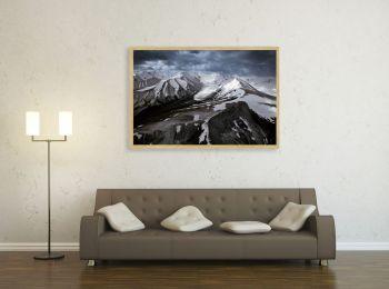 Glacier near Mount It Tish, Kyrgyzstan