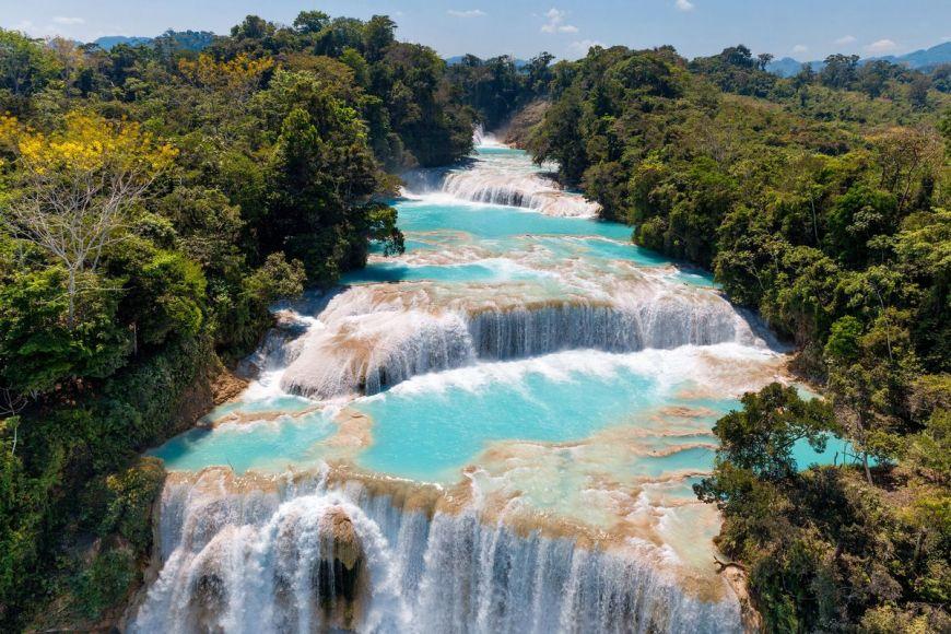 Cascades de Agua Azul, Mexique